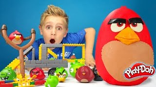 Download Angry Birds Play-Doh Surprise Egg with Hot Wheels Track and Angry Birds K'Nex Build | KIDCITY Video