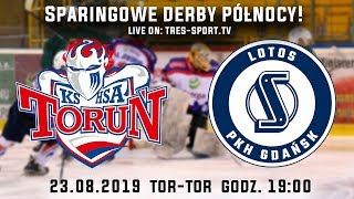 Download Sparing KH Toruń - Lotos PKH Gdańsk | Lodowisko TOR - TOR 23.08.2019 Video