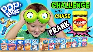 Download POP TART CHALLENGE & VEGEMITE PRANK on 4 Year Old CHASE (FUNnel Vision w/ Parents Battle) Video