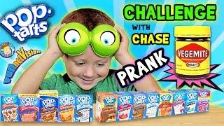 Download POP TART CHALLENGE & VEGEMITE PRANK on 4 Year Old CHASE (FUNnel Vision w/ Parents Battle) Video