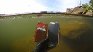 Download Found Phone, Wallet, Knife Underwater in River! (Scuba Diving) Video