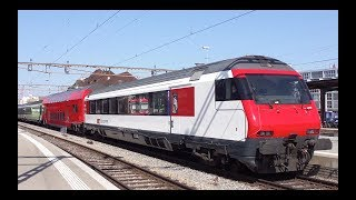 Download SBB Re 460 073 mit SZU Versuchszug [März 2011] Video