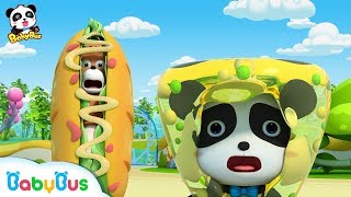 Download 【New】Baby Panda is Attacked by Crazy Food Machine | Magical Chinese Characters | BabyBus Video