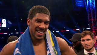 Download POST FIGHT: Anthony Joshua says he wants to fight Deontay Wilder next Video