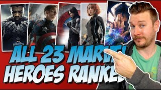 Download All 23 MCU Heroes Ranked From Worst to Best (w/ Black Panther from the Marvel Cinematic Universe) Video