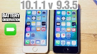 Download iOS 10.1.1 vs. iOS 9.3.5 Speed Test + Benchmark + Battery! Which is Faster? Is iOS 10.1.1 Slower? Video