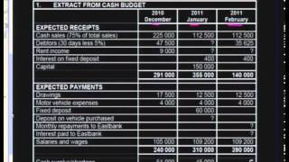 Download Budgets (Sole Trader) Video
