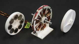 Download 3D printed axial brushless motor for drones Video