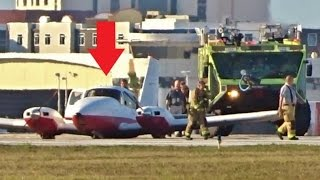 Download EMERGENCY GEAR UP LANDING with ATC - Daytona Beach Int'l (Piper Aztec) Video