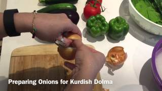 Download How to prepare onions for Kurdish Dolma Video
