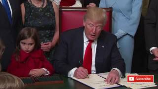 Download Donald Trump signing documents at Capitol Hill procedural grab-bag on Inauguration Day 2017 ✔ Video
