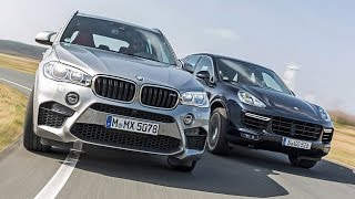 Download Monster-Duell - BMW X5 M vs. Porsche Cayenne Turbo (2015) Video