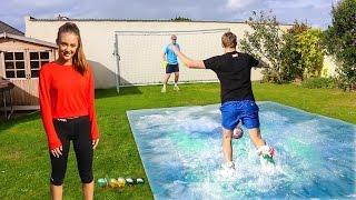 Download SLIP 'N' SLIDE FOOTBALL vs MY SISTER Video
