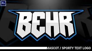 Download Tutorial: Simplistic Mascot/Sporty Text Logos (eSports, Sports, ect.) (Photoshop CC) Video