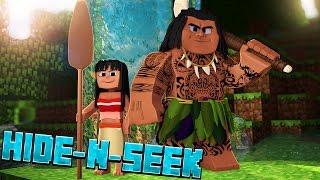 Download FINDING MAUI!? Moana Hide N Seek #1 (Minecraft Moana Roleplay) Video