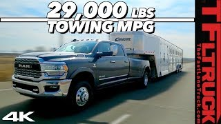 Download We Max Out the New 2019 Ram Cummins HD with 29,000 lbs & a 50 FOOT Trailer to Test Towing MPG! Video