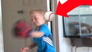 Download ⚾MOM HITS KID IN THE FACE WITH BASEBALL😲 | 👩MOM FAIL | BASEBALL | DYCHES FAM Video