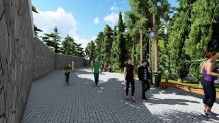Download Архитектурное решение благоустройства участка с фонтаном на ул. Ленинградской в Гурзуфе Video