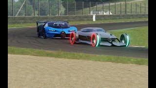 Download Battle Mercedes-Benz Silver Arrow Concept vs Bugatti Vision GT at Mugello Video