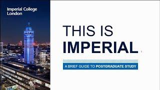 Download This is Imperial: postgraduate study webinar Video