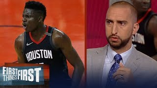 Download Nick and Cris on reports Clint Capela turned down contract from Houston   NBA   FIRST THINGS FIRST Video