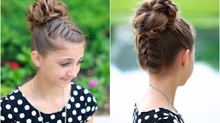 Download Double French Messy Bun   Updo Hairstyles Video