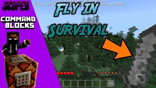 Download MCPE Tutorials: How to Fly in Survival   Command Blocks Video