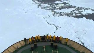 Download Antarctica 2010-Icebreaker Khelbnikov full speed second attempt cutting the pack ice Video