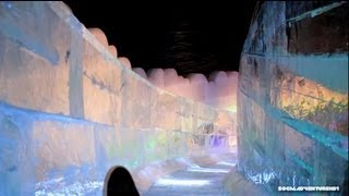 Download Sliding down Queen Mary Ship Ice Sculpture @ The Ice Kingdom - Chill 2013 Video