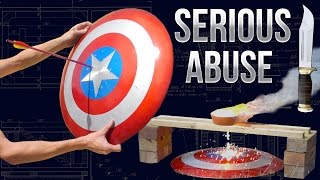 Download Destroying Captain America's Shield - Real Life Video