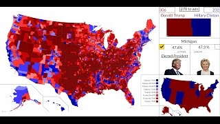 Download [4K HD] 2016 American Presidential Election Results Map : State by State Video