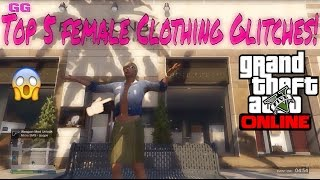 Download GTA 5 ONLINE - TOP 5 CLOTHING GLITCHES [RARE FEMALE OUTFITS] WORKING AFTER PATCH 1.27/1.32 Video