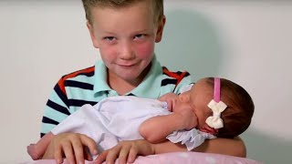 Download Six Brothers REACT To Meeting Their Baby Sister | What's Trending Now Video