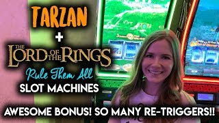 Download AWESOME BONUS!! Lord of the Rings Rule Them All Slot Machine!! Re-Triggered All the Way to the Top!! Video