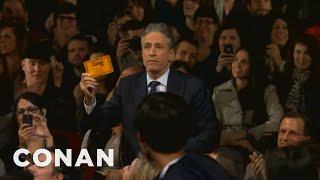 Download Jon Stewart & Stephen Colbert Crash Conan NYC Video