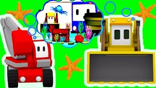 Download The Aquarium - Learn with Charlie the Crane, Billy the Bulldozer and the Excavator - Tiny Trucks Video