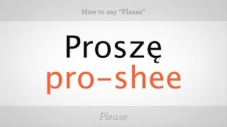 Download How to Say ″Please″ in Polish | Polish Lessons Video