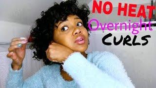 Download Overnight HEATLESS Curls on SHORT Hair! Video