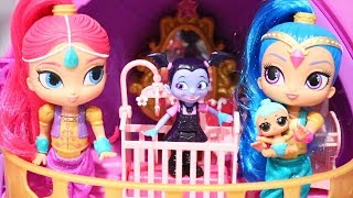 Download Vampirina Babysits Lil Genie ! Toys and Dolls Fun for Kids Playing with Shimmer & Shine | SWTAD Video