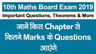 Download CBSE Class 10th Maths Board Exam 2019: Chapter-wise Important Questions, Theorems, Weightage |NCERT Video