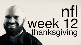 Download NFL Week 12 Football Picks & Predictions (THANKSGIVING) | Vegas Lines & Odds Preview | 2017 Analysis Video