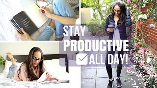 Download 10 Ways To Stay Productive ALL DAY LONG! | Study With Jess Video