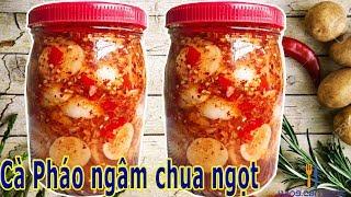 Download Cách làm Cà Pháo ngâm chua ngọt giòn rụm, ăn là ghiền | HANG CAN COOK Video