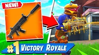 Download FORTNITE BATTLE ROYALE *NEW* SUPPRESSED ASSAULT RIFLE GAMEPLAY! (New Scar Fortnite) Video