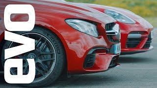 Download Porsche Panamera Turbo v Mercedes-AMG E63 S | evo drag races Video