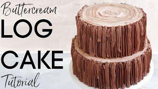 Download Buttercream Log Cake // Bark Tutorial Video