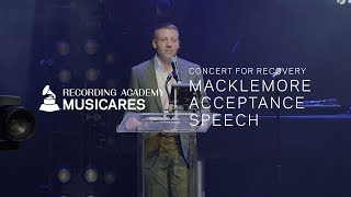 Download Watch Macklemore's Honoree Speech At The 2019 MusiCares Concert for Recovery Video