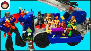Download Imaginext DC Super Friends RC Mobile Command Center Unboxing Video - Justice League Battles Darkseid Video
