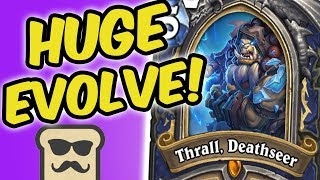 Download FULL BOARD + THRALL, DEATHSEER = HUGE EVOLVE!  RNG SHAMAN   HEARTHSTONE   DISGUISED TOAST Video