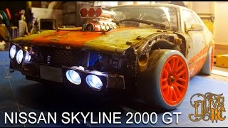 Download RC DRIFT CAR - NISSAN SKYLINE 2000 GT Video